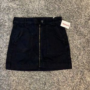 American Eagle Black Denim Mini Skirt